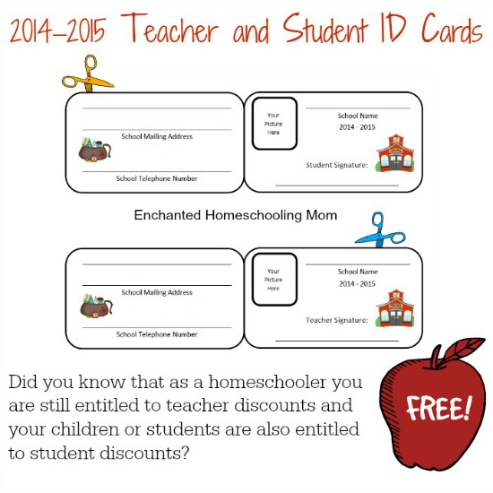 homeschool id card template - blank student identity card the image