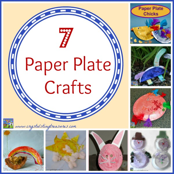 7 Paper Plate Crafts By Crystals Tiny Treasures