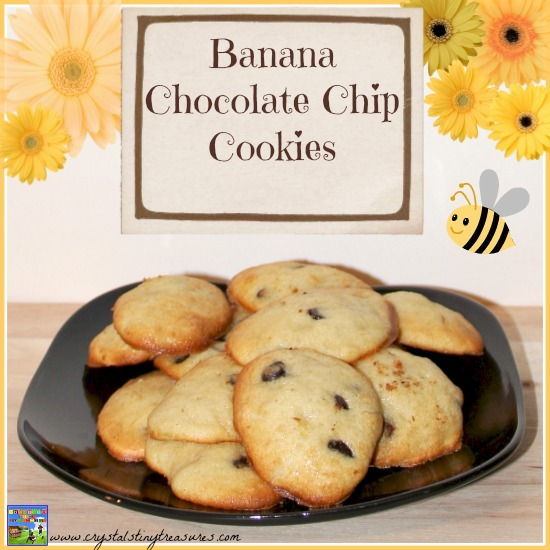 Banana Chocolate Chip Cookies by Castle View Academy are just like tiny little muffins!