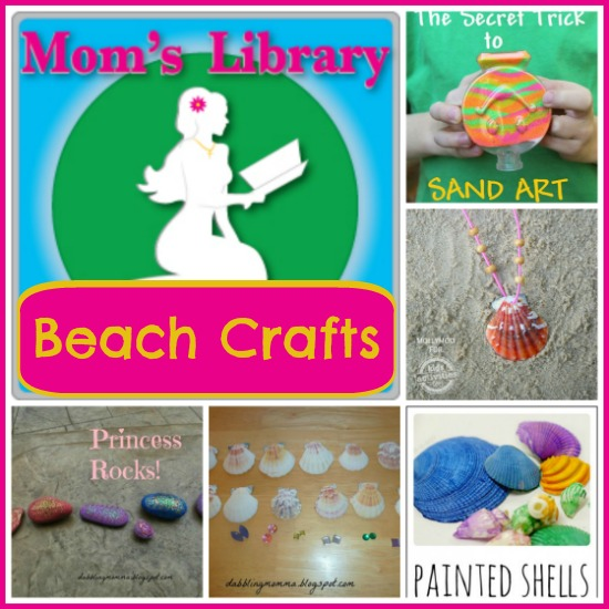 Beach Crafts on Mom's Library with Crystal's Tiny Treasures