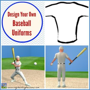 Design Your Own Baseball Uniforms with Crystal's Tiny Treasures