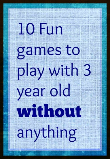 Games to play with 3 year olds