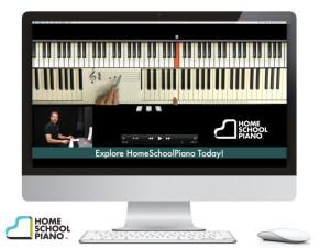 HomeSchoolPiano virtual keyboard, online piano lessons, photo