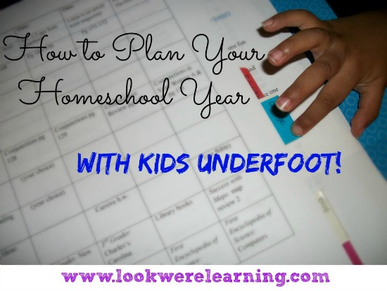 how to plan your homeschool year with kids underfoot, photo