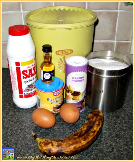 Banana Chocolate Chip Cookie Ingredients, photo