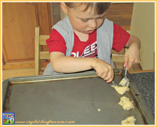 Drop cookies are perfect for kids to make, childminding fun, family recipes, photo