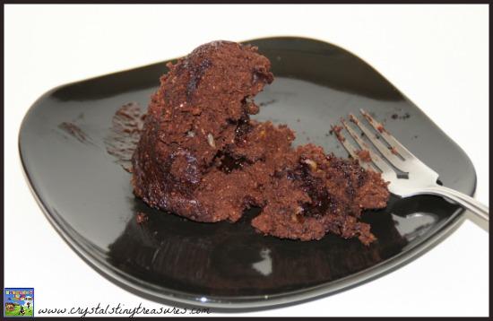 Personal Size Chocolate Lava Cake in a Mug by Crystal's Tiny Treasures, volcano cake, lava cake, cake i a mug, recipes for childminders, recipes for babysitting, photo