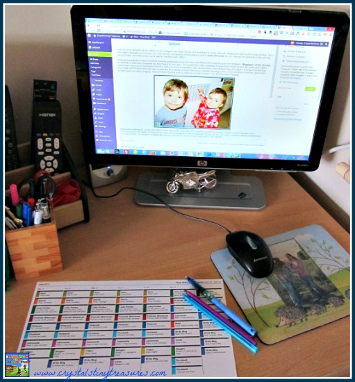 Blog maintenance with LessonTreck, Homeschool lesson planners, life organisation, photo