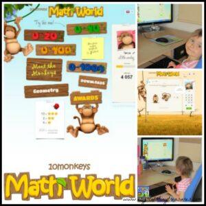 10 Monkeys Math World Review by Crystal's Tiny Treasure