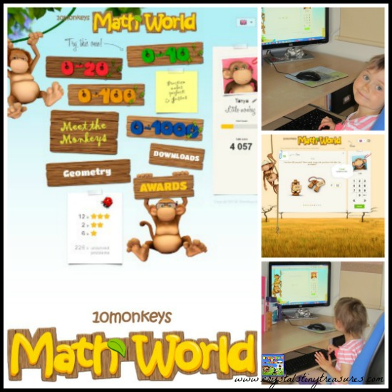 10 Monkeys Math World Review by Crystal's Tiny Treasure