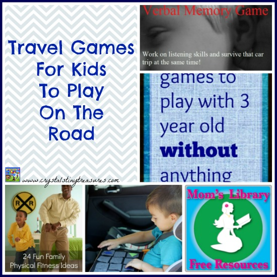 Travel Games for Kids on Mom's Library with Crystal's Tiny Treasures