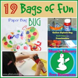 19 Bags of Fun with Mom's Library at Crystal's Tiny Treasures
