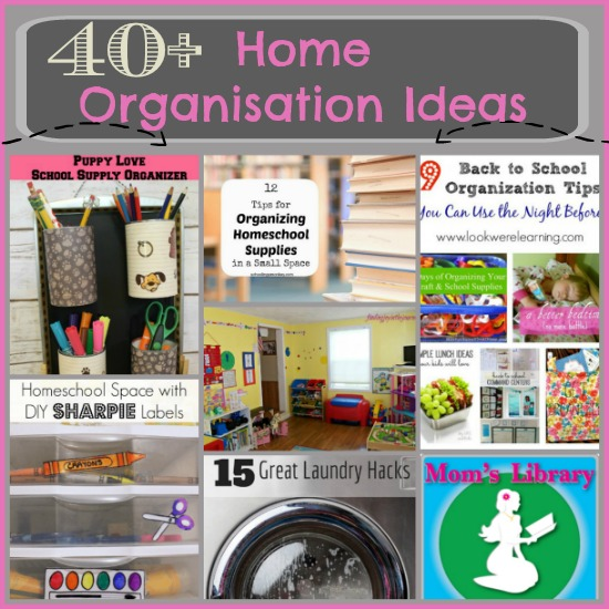 40+ Home Organisation Ideas on Mom's Library at Crystal's Tiny Treasures