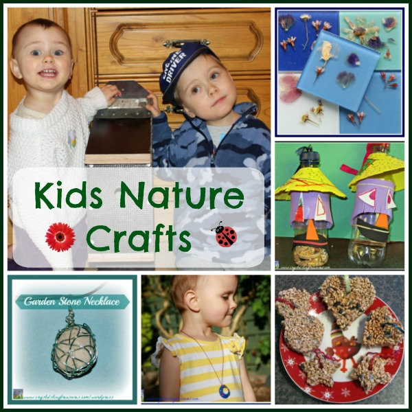 6 Kids Nature Crafts by Crystal's Tiny Treasures