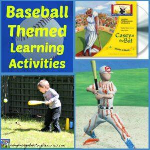 Baseball-Themed Learning Activities For Kids