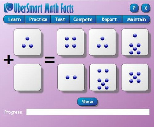 Dot Cards for early math facts learning, photo