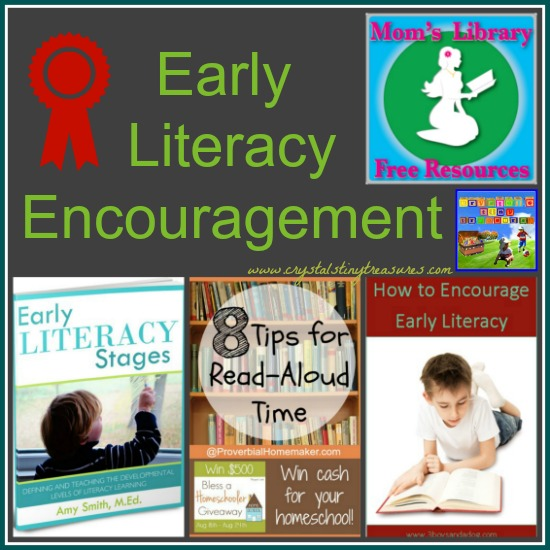 Early Literacy Encouragement on Mom's Library with Crystal's Tiny Treasures