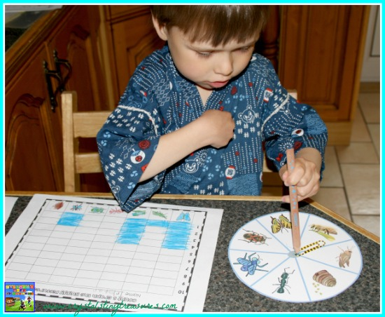 Buggy for graphing, grade 1 graphing, insect themed math, photo