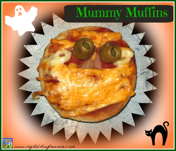 Mummy Muffins are a great Halloween party food