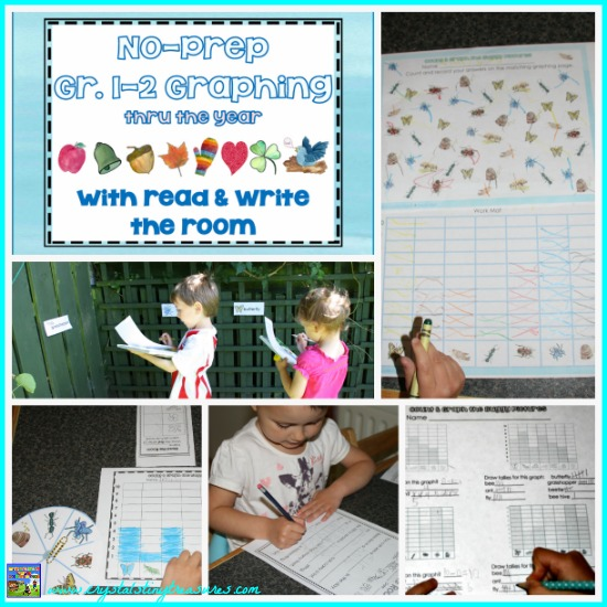 No-Prep Graphing and Read The Room Gr 1-2