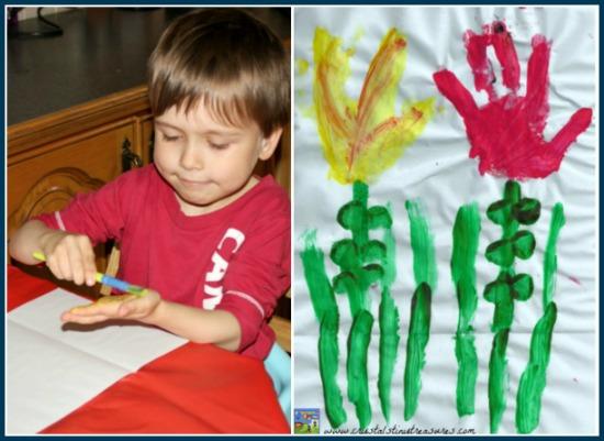 Hands of Friendship, handprint art for kids, children's song activities, photo