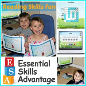 Reading Skills Fun with Essential Skills Advantage, A review by Crystal's Tiny Treasures