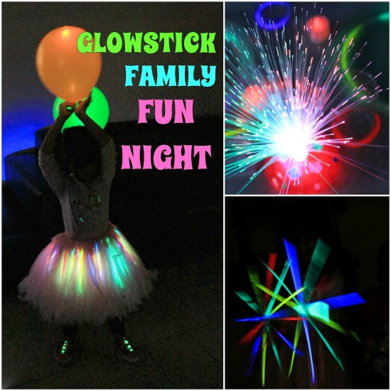 Glow stick family fun night, photo