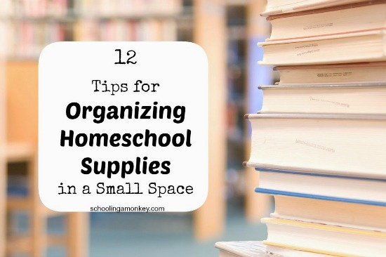 organize homeschool supplies