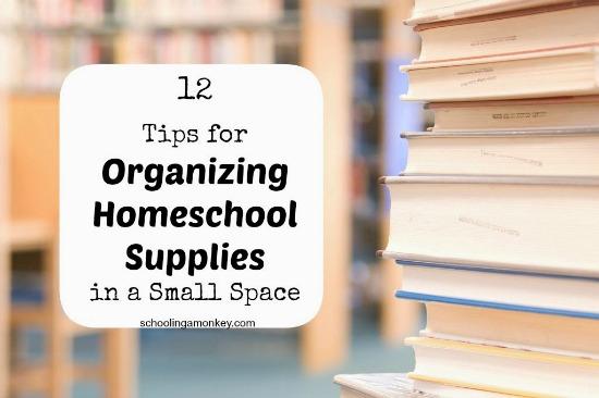 organize homeschool supplies