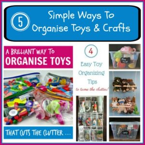 5 Simple ways to organise toys and crafts with Mom's Library at Crystal's Tiny Treasures