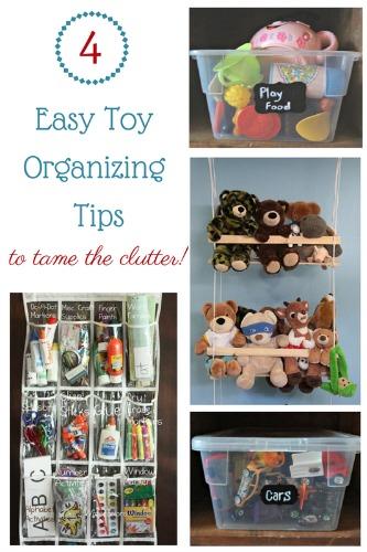 4 Easy toy organising tips