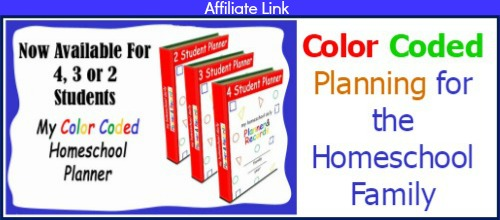 Color coded planner affiliate box