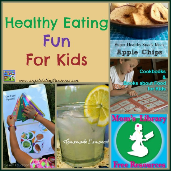 Healthy Eating on Mom's Library with Crystal's Tiny Treasures