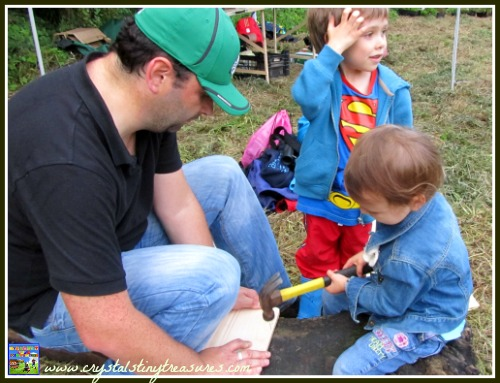 Making a bat house is lots of fun, bat box building with kids, photo