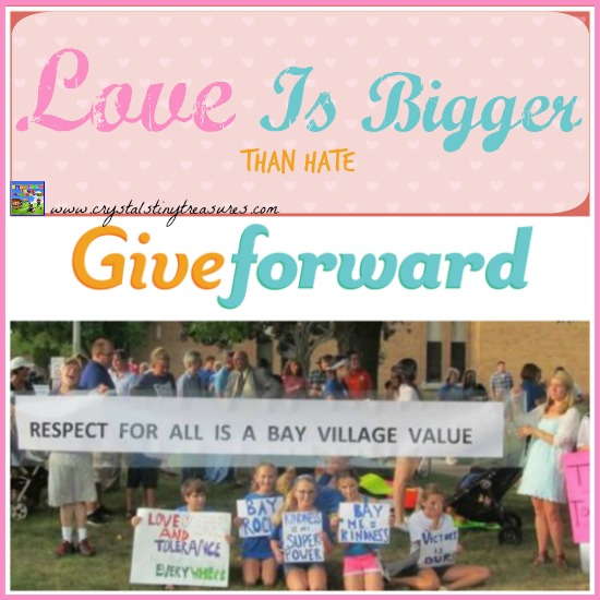 Love is Bigger Than Hate, Give Forward, Crystal's Tiny Treasures