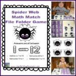 Spider Math File Folder Games