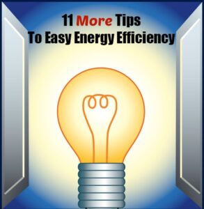 11 More Tips To Easy Energy Efficiency