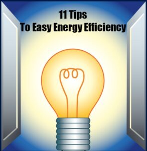 11 Tips To Easy Energy Efficiency