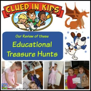 Clued In Kids Treasure Hunts Review By Crystal's Tiny Treasures