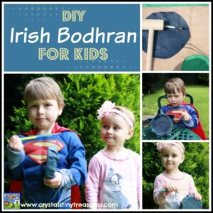 DIY Irish Bodhran Drum for kids