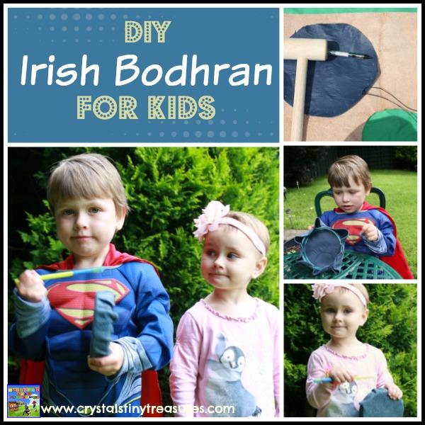 DIY Irish Bodhran Drum for kids