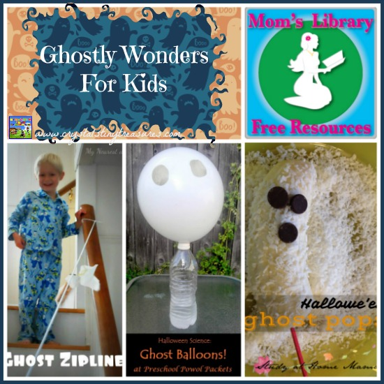 Ghostly Fun For Kids on Mom's Library with Crystal's Tiny Treasures