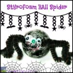 Styrofoam Spider Halloween Craft