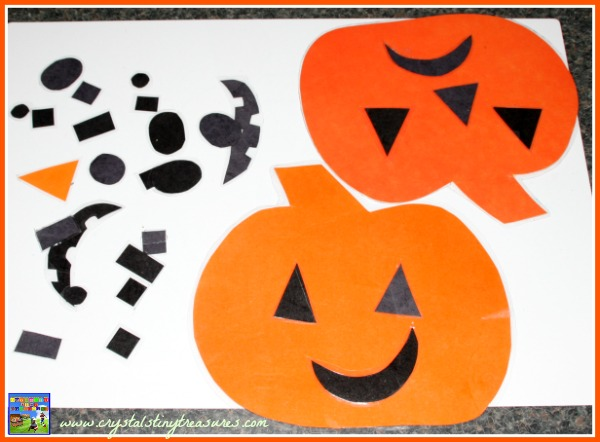 Jack-O-Lantern face shapes for toddlers