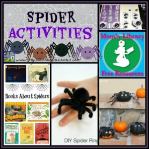 Spider Activities on Mom's Library wit