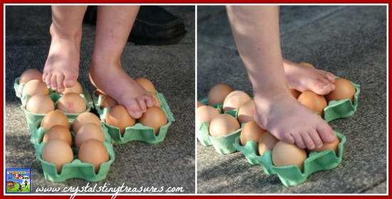 Use a flat foot to walk on eggs,  photo