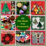 10 Kid made Christmas Tree Decorations