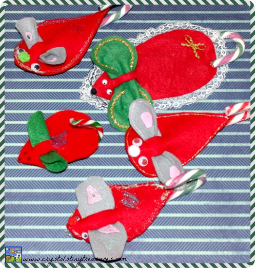 A Family of Felt Mice, Christmas books with crafts, Christmas craft ideas, Preschool Christmas crafts
