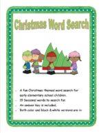 Christmas Crossword 2014, subscriber freebie, December time-fillers for kids