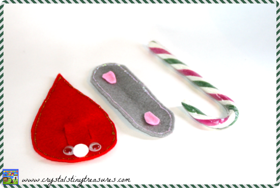 Felt Christmas mouse pattern guide